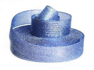 Лента металлизированная(парча) 25 мм, цвет: 3348 (Рулон 32,9 м)