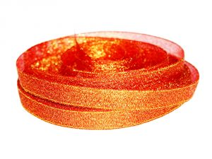 Лента металлизированная(парча) 12 мм, цвет: 3336 (Рулон 32,9 м)