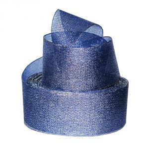`Лента металлизированная(парча) 50 мм, цвет: 3348