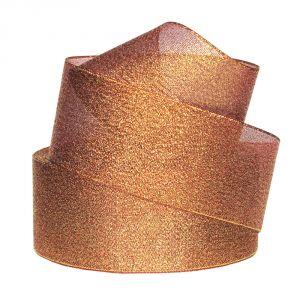 `Лента металлизированная(парча) 50 мм, цвет: 3338