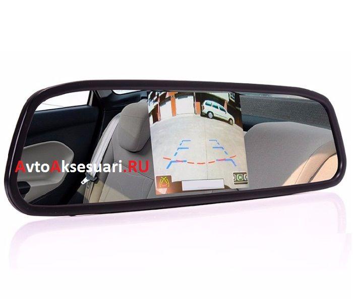 Зеркало заднего вида с монитором 3.5 дюйма