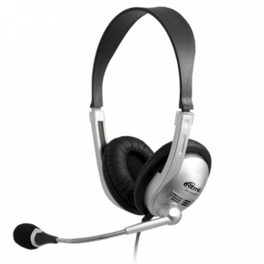 Мониторные наушники с микрофоном RITMIX RH-533 USB Silver (УЦЕНКА !!! Плохая упаковка)