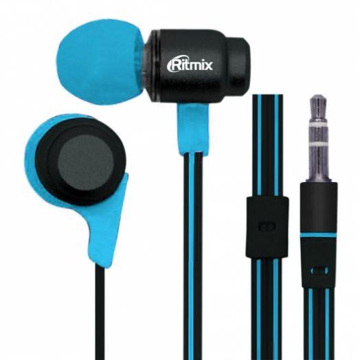 Наушники вакуумные RITMIX RH-185 Black+Blue