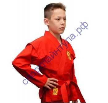 Куртка самбо (облегченная) Крепыш красная