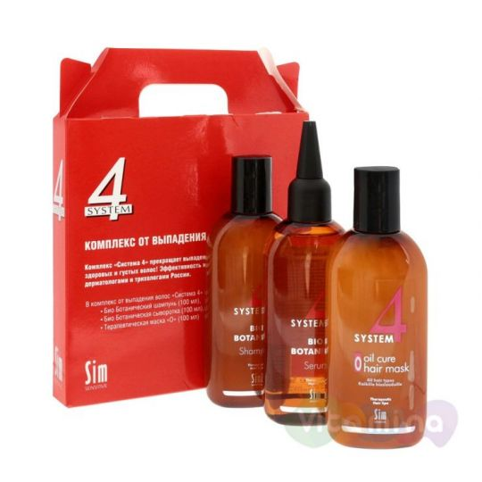 Система 4 Комплекс от выпадения волос (шампунь 215мл, маска 215мл, сыворотка 200мл)