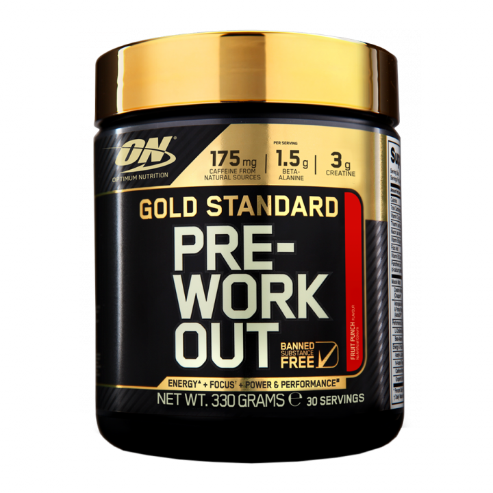 OPTIMUM NUTRITION Gold Standard PRE-Workout 30serv (300гр.) - Fruit Punch - фруктовый пунш
