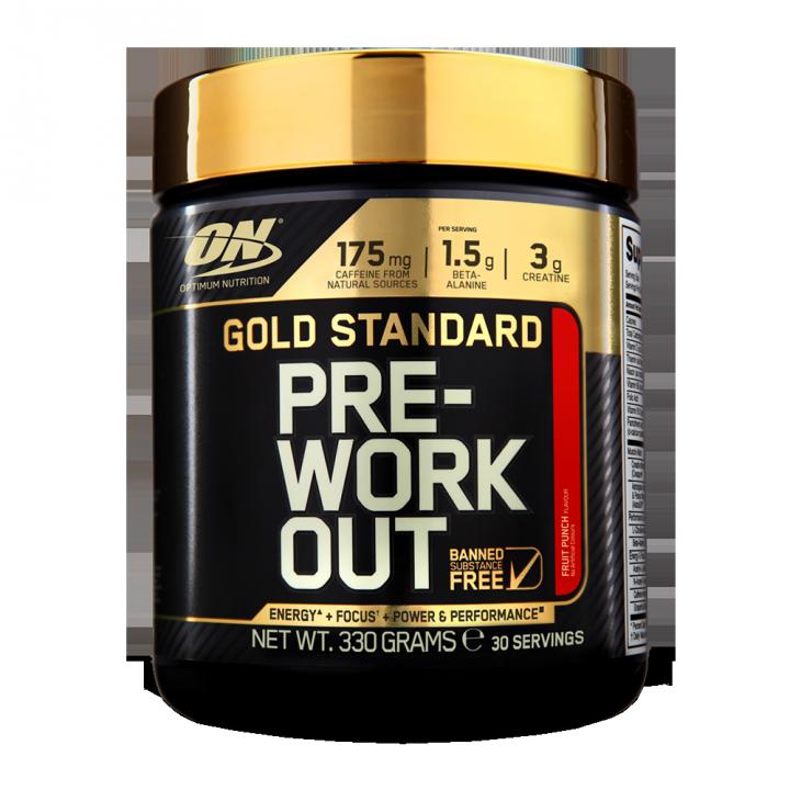 OPTIMUM NUTRITION Gold Standard PRE-Workout 30serv (300гр.) - Fruit Punch - фруктовый пунш
