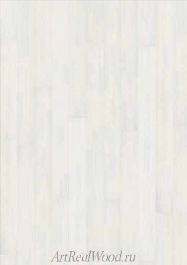 Паркетная доска Ясень Алебастр (Alabaster) Kahrs