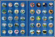 Набор цветных 25 центов 50 штатов и 6 территорий США 1999-2009, в альбоме
