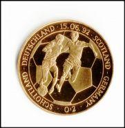 ШВЕЦИЯ 1992 ЧЕ ПО ФУТБОЛУ ШОТЛАНДИЯ-ГЕРМАНИЯ (большая, кроновая монета)