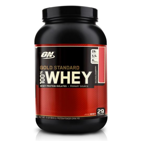 Протеин Optimum Nutrition 100% Whey protein Gold standard 2 lb (0,9 кг)