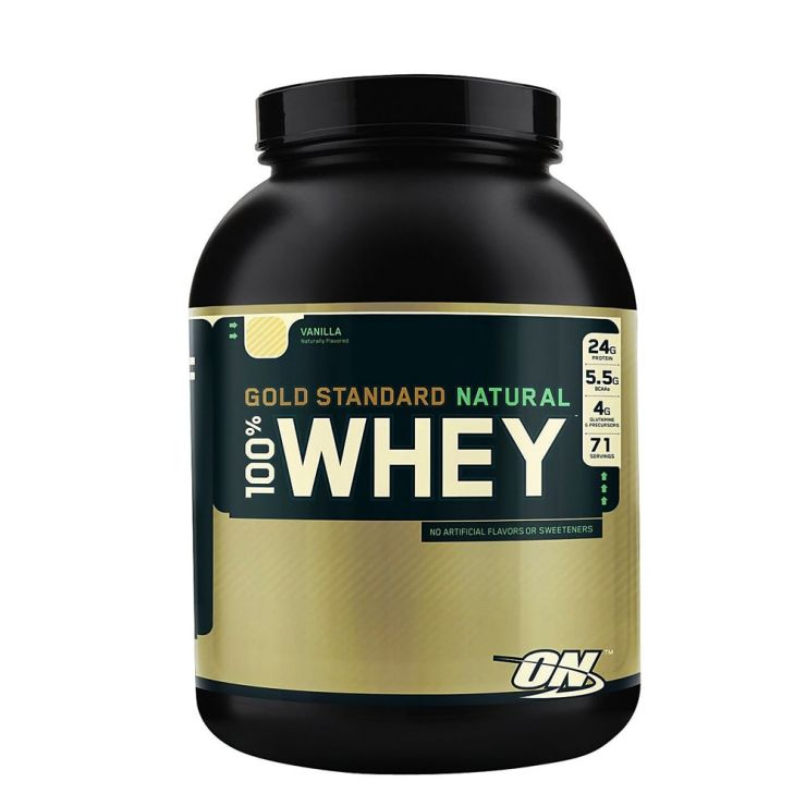 Optimum Nutrition 100% Natural Whey Gold Standard Gluten Free 4,8 lb (2,18 кг)