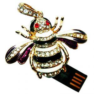 Флешка Пчела со стразами