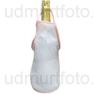 Фартук на бутылку с цветным кантом