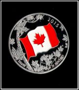 25 долларов Канада 2015 года Цветной флаг посеребрение. Сувенирная