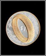 Кольцо всевластия 1 доллар Новая Зеландия 2003 Копия позолота и посеребрение, сувенирная