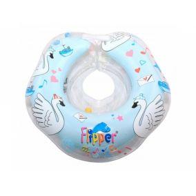 "Flipper Swan Lake Мusic - круг на шею для купания малышей ""Лебединое озеро"" (голубой)"