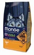 Monge Bwild Dog Ostrich корм для взрослых собак всех пород с мясом страуса 2 кг