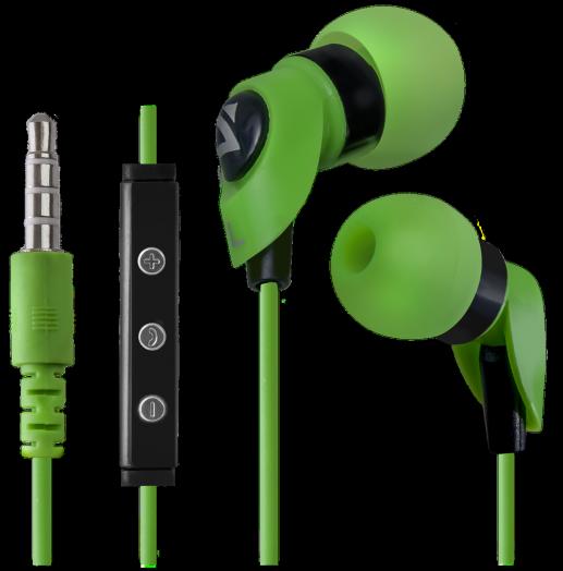 Наушники вакуумные - гарнитура Defender Pulse 455 зеленый, для Android, вставки