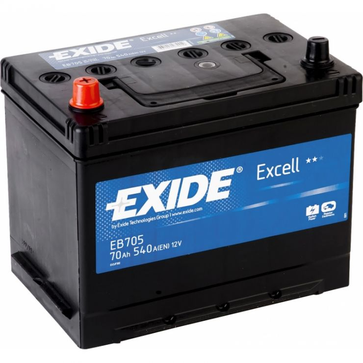 Автомобильный аккумулятор АКБ Exide (Эксайд) Excell EB705 70Ач п.п.
