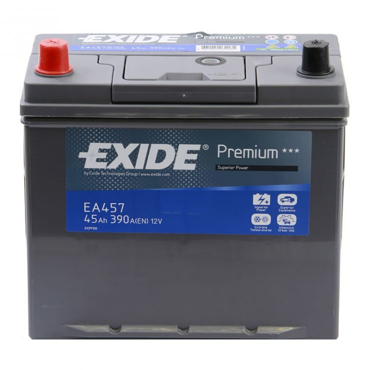 Автомобильный аккумулятор АКБ Exide (Эксайд) Premium EA457 45Ач п.п.