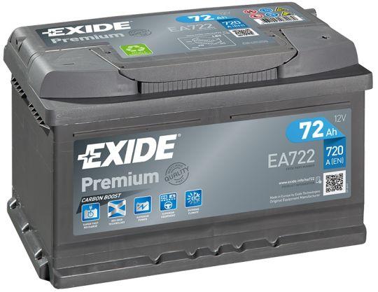 Автомобильный аккумулятор АКБ Exide (Эксайд) Premium EA722 72Ач о.п.