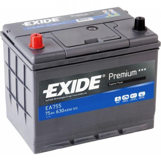Автомобильный аккумулятор АКБ Exide (Эксайд) Premium EA755 75Ач п.п.