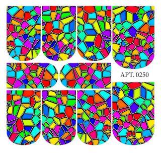 Слайдер-дизайн для ногтей № 0250