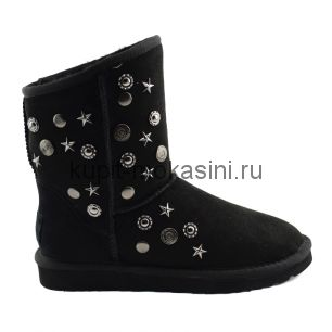Jimmy Choo Starlit Black - Угги Джимми Чу Черный