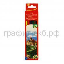 Карандаши цв.6цв.Faber-Castell ECO Замок 120106