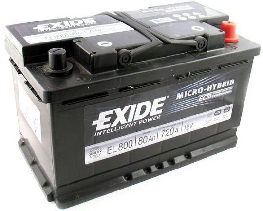 Автомобильный аккумулятор АКБ Exide (Эксайд) Start-Stop EFB EL800 80Ач о.п.