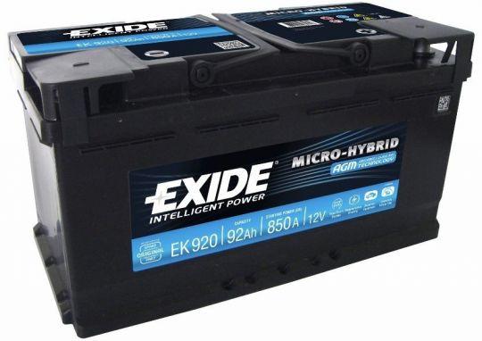 Автомобильный аккумулятор АКБ Exide (Эксайд) Start-Stop AGM EK950 95Ач о.п.