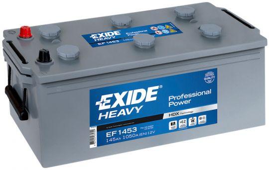 Автомобильный аккумулятор АКБ Exide (Эксайд) EF1453 145Ач о.п. (3) (евро)