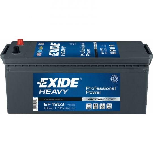 Автомобильный аккумулятор АКБ Exide (Эксайд) EF1853 185Ач о.п. (3) (евро)