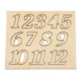 """Набор для творчества """"Цифры"""" для часов, 12 шт., h=2,5 см"""