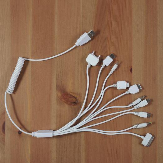 Переходник USB BS-1010 (10 разъемов) белый