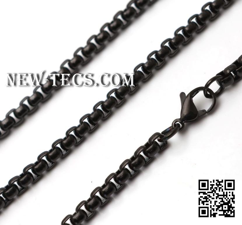Мужская цепь черная