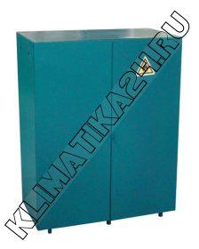 Металлический шкаф для 2 газовых баллонов