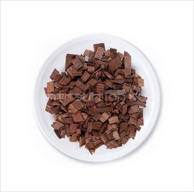 Дубовая щепа, 90 гр (сильный обжиг)