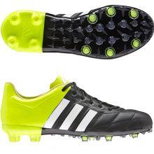 Детские бутсы adidas Ace 15.1 FG/AG Leather Junior чёрные