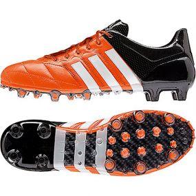 Бутсы adidas Ace 15.1 FG/AG Leather оранжевые
