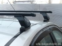 Багажник на крышу Hyundai i30, Lux, прямоугольные стальные дуги