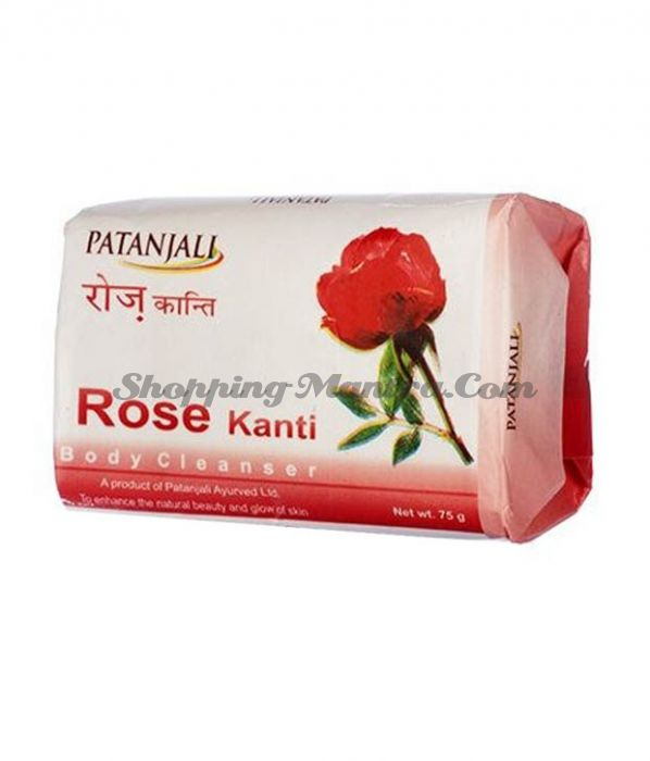 Мыло для лица и тела Роза Патанджали Аюрведа / Divya Patanjali Kanti Rose Soap