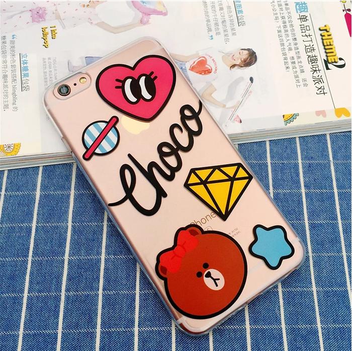 Силиконовый чехол Choco для iPhone 5/5s