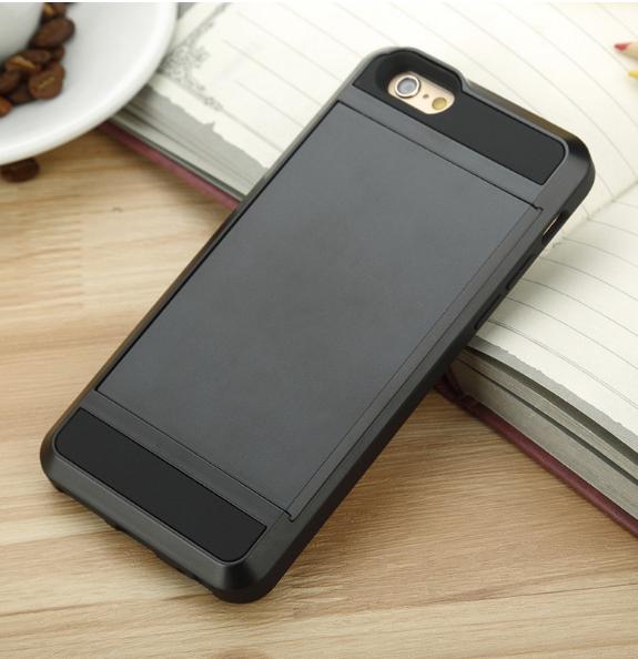Чехол armor cs для iphone 6/6s с отделом для кредиток (черный)