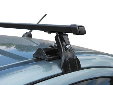 Универсальный багажник на крышу Муравей Д-1, на Chevrolet Aveo 2002-11 sedan/hatchback, стальные прямоугольные дуги