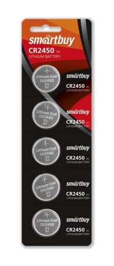 Батарейка литиевый элемент питания (диск) Smartbuy CR2450/5B
