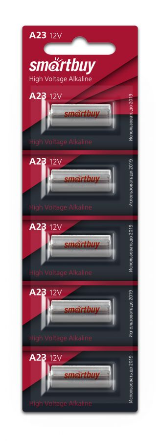 Батарейка А23 алкалиновая Smartbuy A23/5B (5 шт. на блистере)