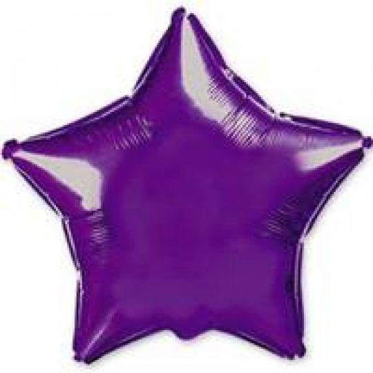 Звезда фиолетовая большая шар фольгированный с гелием