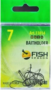 Крючки Fish Season Baitholder-Ring одинарные с ушком, покрытие BN(Артикул:11014)